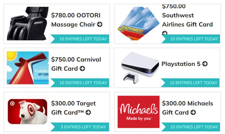 Cash Grab Sweepstakes